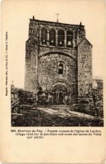 Env. du Puy - Facade romane de l'Eglise de Landos village - Landos