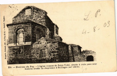 Env. du Puy - L'Eglise romane de Saint-Vidal abside a trois... - Saint-Vidal