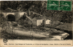 Hte-Loire Les Gorges de Vaubarlet sur la Route de Sainte-Sigoiene... - Arlet