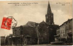 Saint-Paulien - La Place Julien et l'Eglise - Alt 795m (Aspect Nord - Saint-Paulien