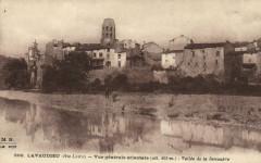 Lavaudieu (Hte-Loire Vue générale orientale-Vallée de la Senouire - Lavaudieu