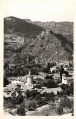Goudet (Hte-Loire) Vue partielle et le Chateau - Goudet