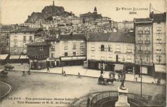Vue panoramique - Statue Lafayette, Tour Pannessac et Notre-Dame de France - Le Puy-en-Velay