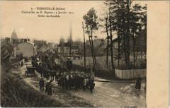 Theneuille - Funéraille de M. Bignon Défilé des Sociétés - Theneuille