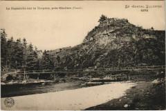 La Passerelle s la Truyere, pres Chaliers France - Chaliers