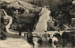 Route de Saint-Flour à Chaudesaigues - Le Pont de Lanau 15 Chaudes-Aigues
