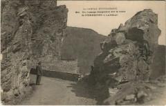 Un passage dangereux sur la Route de Pierrefort a Laussac France - Pierrefort