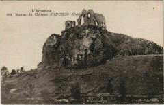 Ruines du Chateau d'Apchon France - Apchon