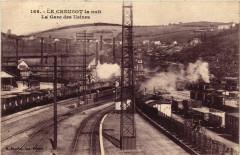 Le Creusot - Le Creusot la Nuit - La Gare des Usines - Le Creusot