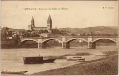 Tournus - Pont sur la Saone et Abbaye - Tournus