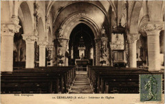 Genelard Interieur de l'Eglise France - Génelard