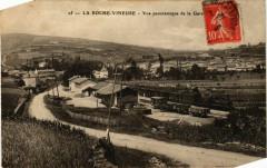 La Roche Vineuse Vue Panoramique de la Gare France - La Roche-Vineuse