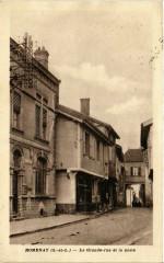 Romenay - La Grande-rue et la poste 71 Romenay