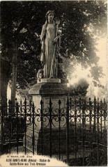 Alise-Sainte-Reine Statue de sainte Reine aux Trois Ormeaux - Alise-Sainte-Reine