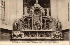 Cote-d'Or- Aignay-le-Duc - Intérieur de l'Eglise -Retable en pierre - Aignay-le-Duc