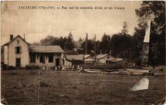 Lacanche (Cote-d'Or) - Vue sur la nouvelle Ecole et les Usines - Lacanche