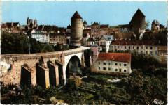 Sémur-en-Auxois (C.-d'Or) - Pont Joly et les Tours - Semur-en-Auxois