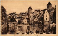 Semur-en-Auxois (Cote-d'Or) - L'Armancon (face Nord) - Semur-en-Auxois