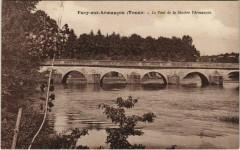 Pacy-sur-Armancon - le pont de la riviere l'Armancon - Pacy-sur-Armançon
