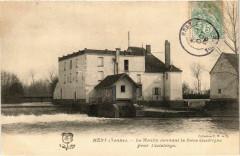 Hery - Le Moulin donnant la Force Electrique France - Héry