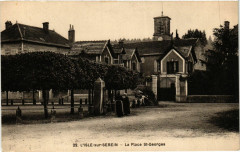 L'Isle-sur-Serein - La Place Saint-Georges - L'Isle-sur-Serein