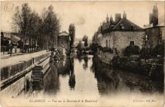 Clamecy-Vue sur le Beuvron & le Boulevard - Beuvron