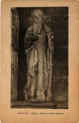 Marville - Eglise - Statue de Saint-Antoine - Marville