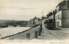 Quai de la Poterne et Pont de Marne - Château-Thierry