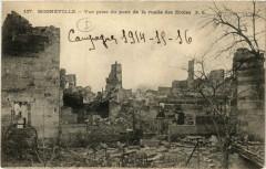 Mogneville -Vue prise du pont de la ruelle des Ecoles - Mognéville