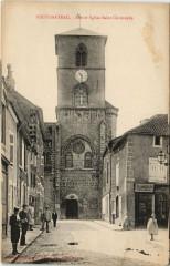 Neufchateau Rue et Eglise Saint-Christophe - Neufchâteau