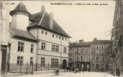 Rambervillers L'Hotel de Ville et Rue du Puits - Rambervillers