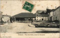 Chatenois - Place des halles venant de Courcelles - Châtenois