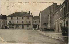 Liffol-le-Grand La Place les Commercatns et les Cafés - Liffol-le-Grand