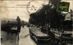 Champigneulles - Le Pont tournant sur le Canal de la Marne au Rhin - Champigneulles