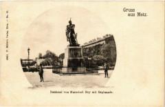Denkmal von Marschall Ney mit Esplanade Gruss aus Metz 57 Metz