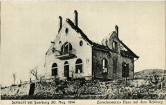Sarrebourg Saarburg i. L. Zerschossenes Haus auf dem Rebberg - Sarrebourg