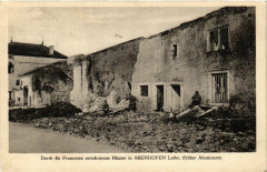 Aboncourt - Abenhofen - Durch die Franzosen zerschossene Hauser - Aboncourt