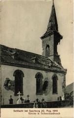 Schlacht bei Saarburg 20 aug 1914 - Kirche in Schneckenbusch - Schneckenbusch