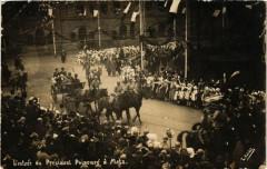 Carte photo - l'entrée du President Poincare a Metz 57 Metz