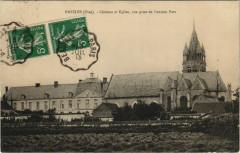 Bresles - Chateau et Eglise vue prise de l'ancien Parc - Bresles