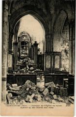 Thiescourt - Interieur de l'Eglise en Ruines - Thiescourt