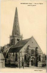 Autreches - Vue de l'Eglise avant la Guerre - Autrêches