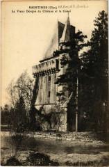 Saintines- Le Vieux Donjon du Chateau et le Canal France - Saintines