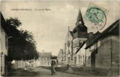Croissy-sur-Celle La rue de l'Eglise - Croissy-sur-Celle