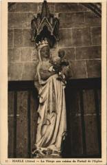 Marle La Vierge aux raisins du Portail de l'Eglise - Marle