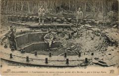Crepy-en-Laonnois Emplacement du canon - Crépy