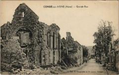 Conde-sur-Aisne - Grande Rue - Ruines - Condé-sur-Aisne