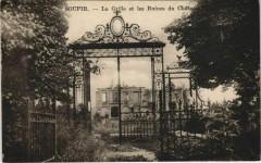 Soupir - La Grille et les Ruines du Chateau - Soupir