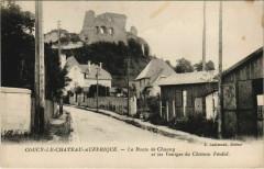 Coucy-le-Chateau-Auffrique - Route Chauny - Vestiges du Chateau - Coucy-le-Château-Auffrique