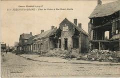 Fresnoy-le-Grand - Place du Prelet et Rue Henri Martin - Ruines - Fresnoy-le-Grand